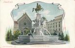 Innsbruck.  Leopoldsbrunnen U. Hofkirche. # 2051, L. Franzi & Co. -- AUTO-CHROM, Circa 1900's - Innsbruck