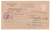 France, Carte De Ravitaillement Avec N° 15 A, Mairie De SAINT BENOIT, Vienne Fiche De Contrôle > Sommières Du Clain 1946 - Dienstpost