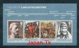 GROßBRITANIEN Mi.Nr. Block 43 Britische Monarchie - Die Häuser Lancaster Und York- MNH - Blokken & Velletjes