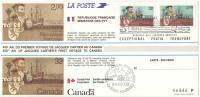 EMISSIONE CONGIUNTA - FRANCIA - FRANCE - CANADA - 1984 - 450° Anniversaire Du Premier Voyage De Jacques Cartier + Tra... - Ersttagsbelege (FDC)
