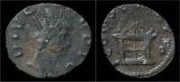 Divo Claudius II Gothicus Billon Antoninianus Flaming Altar - 5. The Military Crisis (235 AD To 284 AD)