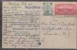 O) 1936 GUATEMALA, POSTAL CARD FROM MARIANAO BEACH TO NJ, XF - Guatemala