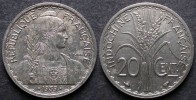 INDOCHINE  20 Cent 1939  FRANCE  INDOCINA   PORT OFFERT - Colonies