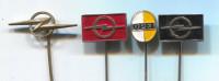 OPEL - Car Auto  Automobile, Vintage Pin  Badge, 4 Pieces - Opel