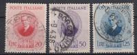 ITALIË - Michel - 1938 - Nr 601/03 - Gest/Obl/Us - 1900-44 Vittorio Emanuele III