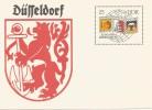 ALEMANIA DDR ENTERO POSTAL DUSSELDORF ESCUDO LEON - [6] República Democrática