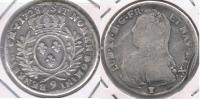 FRANCIA  FRANCE MEDIO ECU LOUIS XV 1728 PLATA SILVER X - 987-1789 Monedas De La Realeza