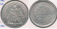 FRANCIA 5 FRANCS  1849 A PLATA SILVER Y - J. 5 Francos