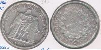 FRANCIA 5 FRANCS  1875 A PLATA SILVER Y - J. 5 Francos