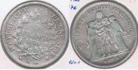FRANCIA 5 FRANCS  1876 A PLATA SILVER Y - J. 5 Francos