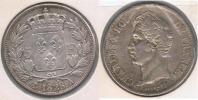 FRANCIA 5 FRANCS  CHARLES X 1828 A PLATA SILVER Y - J. 5 Francos