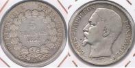 FRANCIA 5 FRANCS  LOUIS NAPOLEON 1852 A PLATA SILVER Y - J. 5 Francos