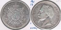 FRANCIA 5 FRANCS  NAPOLEON III 1869 BB PLATA SILVER Y - J. 5 Francos