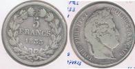 FRANCIA 5 FRANCS LOUIS PHILIPPE 1833 W PLATA SILVER Y - J. 5 Francos