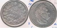 FRANCIA 5 FRANCS LOUIS PHILIPPE 1834 W PLATA SILVER Y - J. 5 Francos