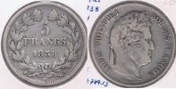 FRANCIA 5 FRANCS LOUIS PHILIPPE 1838 W PLATA SILVER Y - J. 5 Francos