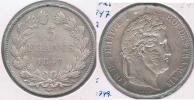 FRANCIA 5 FRANCS LOUIS PHILIPPE 1847 A PLATA SILVER Y - J. 5 Francos