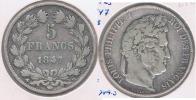 FRANCIA 5 FRANCS LOUIS PHILIPPE 1847 BB PLATA SILVER Y - J. 5 Francos