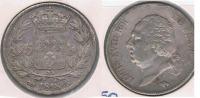 FRANCIA 5 FRANCS LOUIS XVIII 1818 B PLATA SILVER Y - J. 5 Francos