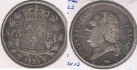 FRANCIA 5 FRANCS LOUIS XVIII 1823 W PLATA SILVER Y - J. 5 Francos