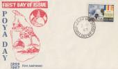 Enveloppe   1er  Jour    CEYLAN    POYA   DAY      1967 - Sri Lanka (Ceylon) (1948-...)