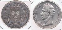 FRANCIA FRANCE 5 FRANCS  CHARLES X 1827 MA PLATA SILVER X - Francia