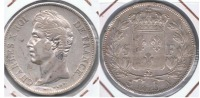 FRANCIA FRANCE 5 FRANCS  CHARLES X 1829 A PLATA SILVER X - Francia