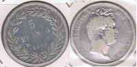 FRANCIA FRANCE 5 FRANCS LOUIS PHILIPPE 1831 MA PLATA SILVER X - J. 5 Francos