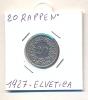 MONETA - Original Münze 20 Rappen 1927 Schweiz - BB - LEGGI