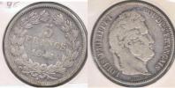 FRANCIA FRANCE 5 FRANCS LOUIS PHILIPPE 1841 W PLATA SILVER X - J. 5 Francos