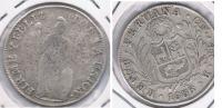 PERU 4 REALES CUZCO 1836 PLATA SILVER X - Perú