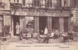 77 AVON FONTAINEBLEAU  Animation En TERRASSE Patrons Devant La Porte CAFE  HOTEL TABAC De La GARE  Timbré - Avon