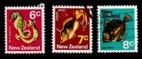 New Zealand 1970 Sealife 6c, 7c, 8c Used - - - New Zealand