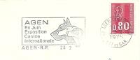 Cover Flamme Meter AGEN En Juin Exposition Canine Internationale Dogs 28/2/1975 - Honden