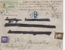 Nr 301, 307, 311 (2), Op Reco, Valeur Declaree, Van Trieste Naar Bruxelles (07431) - 1900-44 Victor Emmanuel III.