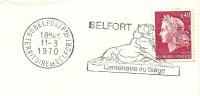Cover Flamme Meter Belfort Centenaire Du Siegle Lion 11/3/1970 - Roofkatten