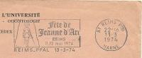 Cover Flamme Meter Reims Fete De JEANNE D'ARC 13/3/1973 Free Postage - Beroemde Personen
