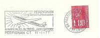 Cover Flamme Meter Perpignon A Moins De 1h De Paris Avion Ouotidien Airplane 11/1/1977 - Vliegtuigen