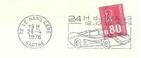 Cover Flamme Meter Le Mans 24 H Du Mans 28/4/1976 - Auto's