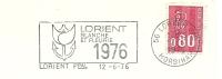Cover Flamme Meter Lorient Blanche Et Fleurs 12/6/1976 - Rozen