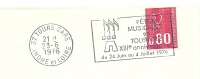 Cover Flamme Meter Tours Fetes Musicals En Tourans XIIIe Anniversaire 23/6/1976 - Muziek