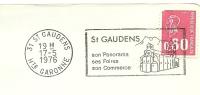 Cover Flamme Meter St. Gaudens Son Panorama Ses Foires Son Commerce Church 17/5/1976 - Kerken En Kathedralen