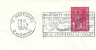 Cover Flamme Meter MARTIGUES RHONE Fetes Venitiennes Boat 29/9/1976 - Boten