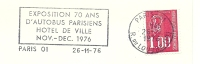 Cover Flamme Meter Paris Exposition 70 Ans D'autobus Parisiens 26/11/1976 - Bussen