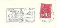 Cover Flamme Meter GUERET Dans Le Calme Et La Verdure 25/2/1975 - Vakantie & Toerisme