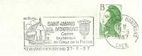 Cover Flamme Meter St Amand Montrond Centre Touristique Au Coeur De La France Church 27/8/1987 - Kerken En Kathedralen