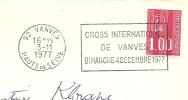 Cover Flamme Meter VANVES Cros International De Vanvest Dimanche 4 Decembre 1977 - Auto's