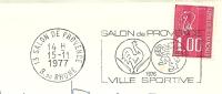 Cover Flamme Meter Salon De Provence Ville Sportive Cocq Lion 15/11/1977 - Postzegels