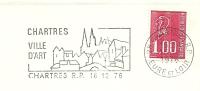 Cover Flamme Meter CHARTRES Vill D'art 16/12/1976 - Musea
