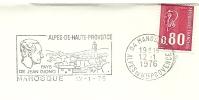 Cover Flamme Meter MANOSQUE Pays De Jean Giono Alpes De Hautes Provence 12/1/1976 - Andere